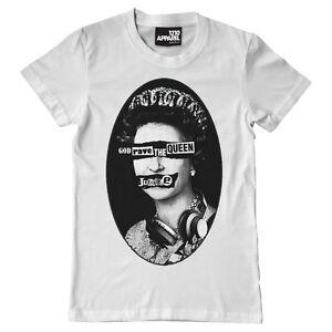 Technics DMC T-Shirt God Rave The Queen (Bianco) Taglia M-XXL A17W