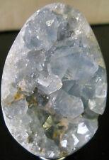 GEMMY BLUE CELESTITE EGG CRYSTAL CLUSTER -REIKI HEALING  00247