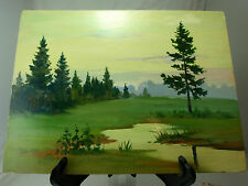 Russian Summer Pasture And Forest Oil Painting P4840