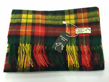 Scottish Buchanan Tartan 100% Lambswool Scarf Brand New With Tags