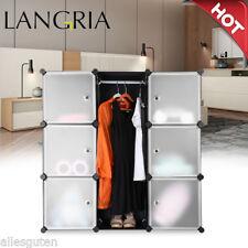 LANGRIA 9-Cube DIY Wardrobe Interlocking Stand Storage Shelf Clothes Shoe Rack