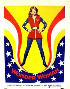 WONDER WOMAN Original ABC Movie TV  Promo POSTER  Lynda Carter  CATHY LEE CROSBY