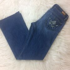 PAIGE HOLLYWOOD HILLS Womens Bootcut Jeans Flower Embroidered Pockets Size 26