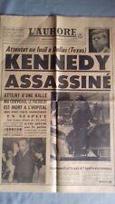 KENNEDY ASSASSINE     L'AURORE, 23-24 Novembre 1963