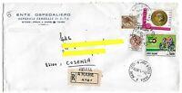 1967 - 50°Ciclismo Giro. - lire 500 - Sass 1047 -  Raccomandata per Cosenza 1980