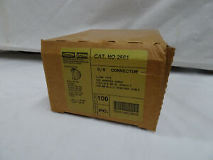 Hubbell Raco Cat . NO 2661 3/8 in. Clamp Type Connector (100-Pack)