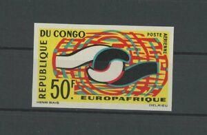 KONGO EUROPAFRIQUE 1965 EUROPA CEPT UNGEZÄHNT IMPERF NON DENTELE RARE!! h4891