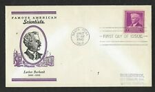 #876 3c Famous Americans - Scientist - Luther Burbank - Linprint Fdc