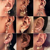 4-10 Pcs Fashion Boho Earrings Set Bohemian Tassel Hoop Stud Dangle Drop Women