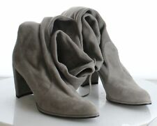 E23 Women's Size 10 Stuart Weitzman Gray Suede Over The Knee Tie Back Boots