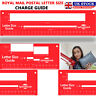 Royal Mail PiP PPI Postal Template Ruler Large Letter Size Charge Guide Checker