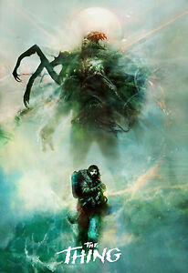 THE THING  FILM MOVIE METAL TIN SIGN POSTER WALL PLAQUE
