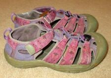 Youth Girls Size 3 Keen Newport H2 Purple Pink Ladybug Water Sport Sandals
