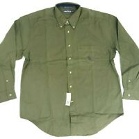 Nautica Vintage DEADSTOCK with TAGS Mens Large Made in USA Button Front Shirt