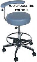 New Galaxy 1066 Round Seat Dental Assistant's Hygienist Stool Chair Adj FootRest