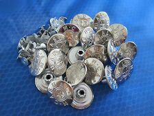 20 x 20mm Press / Hammer On Silver Metal Denim Jeans Buttons with Pins Letters