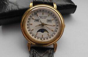 Wunderschöne Herren SOLVIL et TITUS mit Zeigerdatum und Mondphase Vintage Uhr