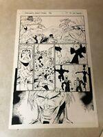 Stormwatch #36 PG #10 original art 1996 IMAGE Wildcats Wetworks GEN 13 BATTLE