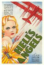 Hell's Angels Vintage Movie Poster Lithograph Jean Harlow