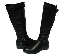 New Women's Fashion Boots  Black Shoes Winter Snow Fur Lined Ladies size 9