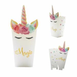 Polka Dot Sky Unicorn Magic Design Popcorn Box Holder Bag Boxes Children Party