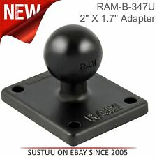 "Ram Mount Motorcycle Bike 2""x1.7"" Universal Amps Base Plate with 1"" Ball│For Gps"