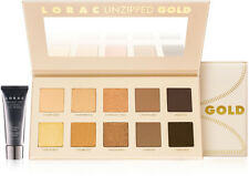 LORAC Unzipped Gold Shimmer & Matte 10 Eye Shadow Palette & Mini Primer $42 NIB