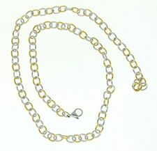 Infinite Love Jewelry Stainless Steel Necklace, Unisex Links Two Tone Necklace