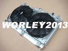 Aluminum radiator + shroud + fan for MAZDA MIATA MX5 1999-2005