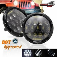 7'' Inch Round LED Headlights Hi/Lo Beam with DRL H4 H13 75W For Mack R Series