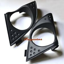 Black Front Fog Light Lamp Bezel Pair For Acura TSX 2009 2010