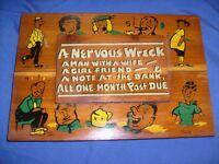 Man, Wife, Girlfriend ,  wooden Novelty sign for man cave, bar. Florida  ,risque