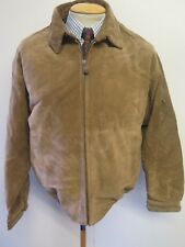 "Vintage Nautica Zipped Suede Harrington Jacket M 38"" Euro 48 - Brown"