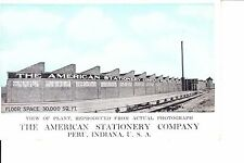 The American Stationary Company  Peru, Indiana  @ 1915