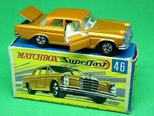 Matchbox Lesney No.46c Mercedes-Benz 300SE Coupe In G2 Box (RARE OPENING DOORS)