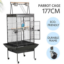 """70"""" Large Bird Parrot Cages Cockatoo Play Top Finch Cage Pet Supplies Black New"""