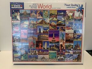 White Mountain - BEST PLACES IN THE WORLD Puzzle - 1,000 pieces - BRAND NEW