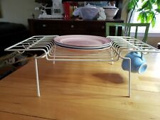 Vintage Rubbermaid Coated Wire Cup Mug Dish Plate Rack Cupboard Organizer Retro
