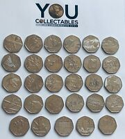50p RARE Coins - Snowman Kew Gardens Beatrix Potter Olympics Gruffalo Hawking