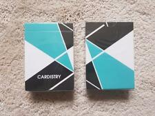 2 DECKS Cardistry Turquoise Playing Cards Rare Limited Custom USPCC not Bicycle