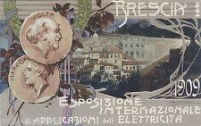 BRESCIA - ESPOSIZIONE INTERNAZ. ELETTRICITA'  1909 -dis. BRESCIANI