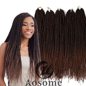 8pcs Ombre Kanekalon Senegalese Twist Braids Crochet Synthetic Hair Extension