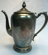 B Rogers Silver on Copper Teapot 1211