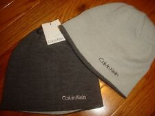 Calvin Klein Mens Skull Beanie Cap Winter Ski Hat Reversible New MSRP $42
