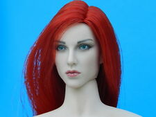 Hot Phicen Captain Sparta Long Red Hair HEAD SCULPT 1/6 scale female body toys
