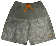 Nike Boys Board Shorts Kids Swimming Trunks Polyester Grey 465131 082 A12C