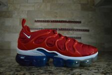 "Nike MENS Air Vapormax Plus ""USA"" University Red White Blue 924453-601 Size 8.5"