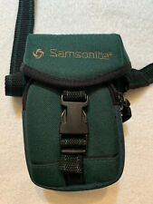 Samsonite 2 compartment Dark Green Nylon Camera Case Lightly Used