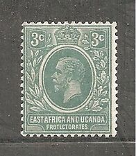 Album Treasures east Africa & Uganda Scott # 2  3c George V Mint LH