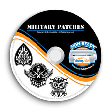 Military Army Navy Patches Clipart Vector Clip Art Vinyl Cutter Plotter Eps Cd